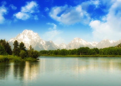 Beautiful Lake And Mountains Of Grand Teton National Park