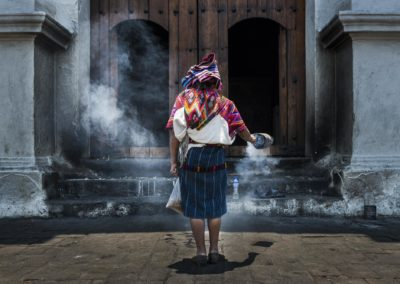 Mayan Woman Performing A Ritual In Front Of The Santo Toms Churc