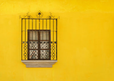 Architectural Detail At The Colonial House In Antigua Guatemala.