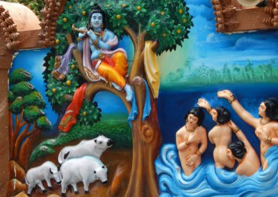 Wall Art Of God Krishna Steal Clothes Of Gopis Bathing In Yamuna