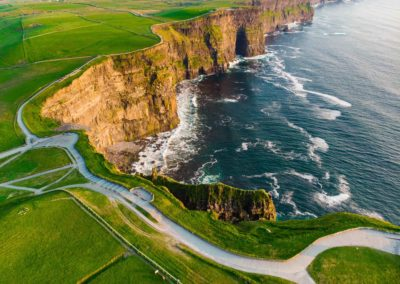 World Famous Cliffs Of Moher, One Of The Most Popular Tourist De