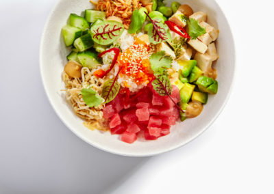 Poke With Tuna And Noodles